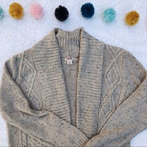 Mossimo Cable Knit Shawl Collar Cardigan Sz M